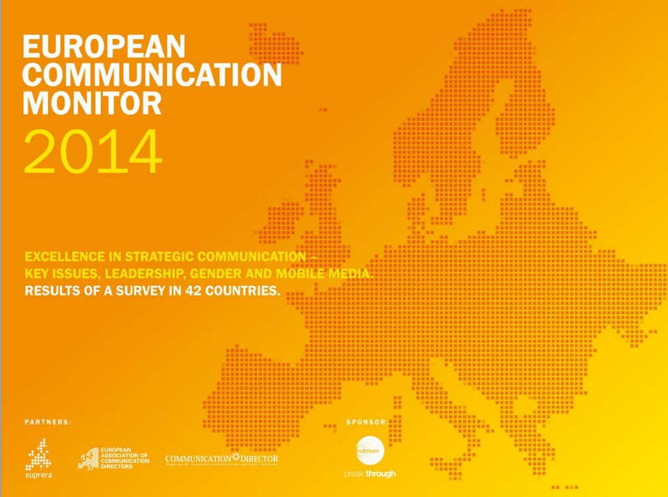The European Communication Monitor 2014 in out and confirms that Digital is king in Europe